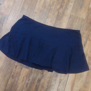 Navy Swim Skirt Bottoms 1X or 2X